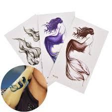 водонепроницаемый русалка временные татуировки наклейки хна тату наклейки рука