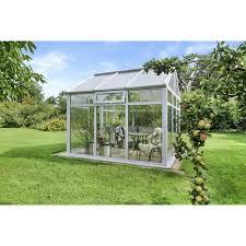 Nordic Gartenhaus Symi Sl9 Weiß Pc Klar 800 Kg 10 Jahre Kaufen