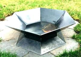 diy metal fire pit bowl outdoor steel stainless house designs pertaining to 16