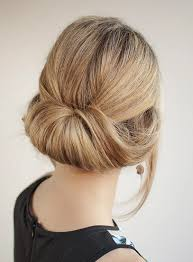 rolled up loose bun for women to wear