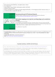 Mechanical Design Domains Pdf Information Mapping Across Injection Moulding Design