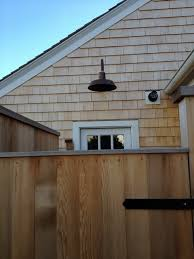 professional s corner copper gooseneck light brightens outdoor shower