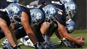 a unc student got an a for a word plagiarized essay north carolina s offensive line sets up during the tar heel s first ncaa college football practice of