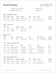 Business Schedule Template Business Trip Schedule Template