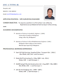 Resume Format Quantity Surveyor Sample Document Resumes