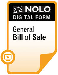 what is a bill of sale general bill of sale for personal property online legal form nolo