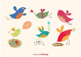 Free Download Spring Cartoon Illustrated Bird All Free Download