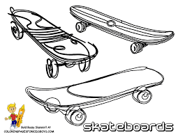 free coloring pages of girl with skateboard