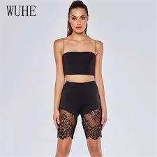 <b>WUHE Sexy Spaghetti</b> Strap Lace Patchwork Jumpsuits Women Off ...