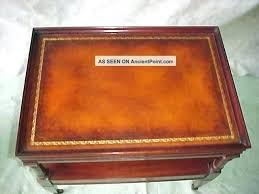 leather topped coffee table antique s pair mahogany top end lamp tables matching value coffe