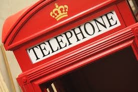 For sale english telephone booth wood
