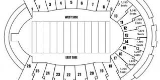 Sun Bowl Stadium Map Sun Bowl Seating Map Texas Usa