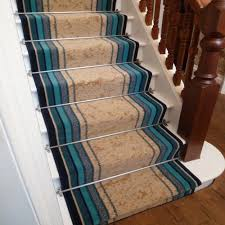 Best Blue Striped Stair Runner
