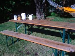 beer garden table. The Tables Were Hard To Find, But They Seem Have Caught On: Beer Garden Carries Handmade Biergarten (88 Inches Long) From Germany For Table G