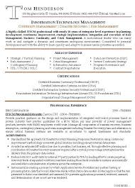 Management Experience Resume - Sample Professional Letter Formats