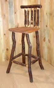 creative wooden furniture. Custom Made Rustic Oak Log Stool With Back Creative Wooden Furniture A