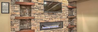 transform a wall gas fireplace stone
