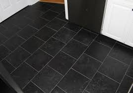 New Kitchen Floor Decoration Dark Tile Floor Kitchen Modern Black Tile Flooring For