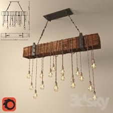 chandelier made of wooden beams diy