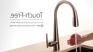 Touch Kitchen Sink Faucet Kitchen Touch Kitchen Faucet Intended For Foremost Best Touch
