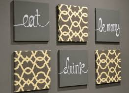 eat drink be merry wall art pack of 6 canvas by on food and drink wall art with 21 eat drink and be merry wall decor items similar to eat drink