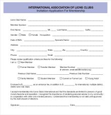 organization membership form template 15 membership application templates free sample example format