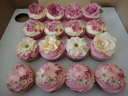 Vintage Floral Wedding Cupcakes Cake By Krumblies Wedding Cakes
