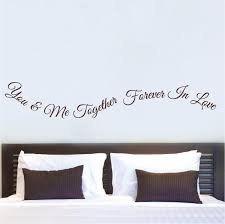 Bedroom Wall Quotes Impressive Romantic Bedroom Wall Quote Decal From Trendy Wall Designs