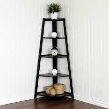 corner shelves for living room 5 tier espresso