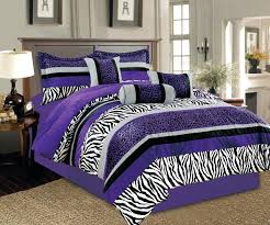 purple and white bedding king size black silver sets