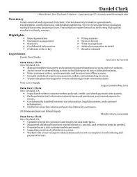 Best Solutions Of Best Data Entry Clerk Resume Example Lovely Sample
