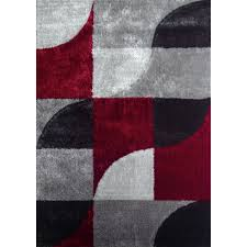stunning black and white geometric rug hand tufted polyester red with light silver to dark gray area grey size inviting outdoor arresting ge rugs