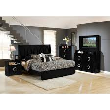 Mirror Bedroom Sets Hollywood Bedroom Bed Tv Dresser Tv Mirror Black King