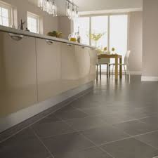 White Kitchen Tile Floor Flooring Ideas Cream Natural Stone Kitchen Tile Flooring With