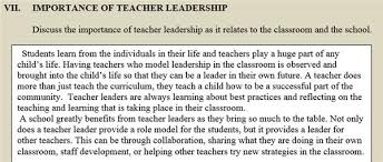 leadership essay melissa torrens teachers as leaders entrance essay