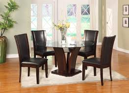 terrific espresso dining room table sets set at home office property crown mark camelia espresso 5 piece round table and chair set