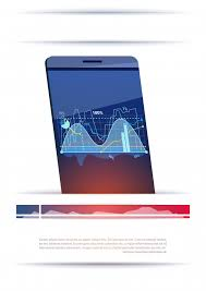 Modern Smart Phone With Graphs And Charts Template Banner