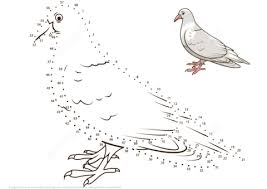 Small Picture Pigeon dot to dot Free Printable Coloring Pages