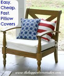 diy pillow covers the happier homemaker