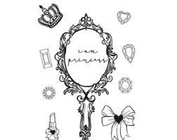 hand mirror sketch. Silver Antique Hand Mirror Drawing Sketch A