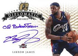 lebron autograph. upper deck is proud to be the exclusive home for autograph cards of lebron and many other stars hardwood including kobe bryant michael jordan.\u201d lebron r