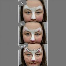bunny face painting instructions