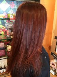 Deep Red Hair Aveda Color