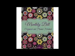 monthly bill organizer notebook monthly bill organizer and planner notebook large budget organizers