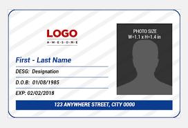 Company Employee Id Card Badge Templates Document Hub