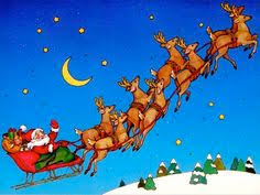santa claus and reindeer flying. Christmas With Santa Claus And Reindeer Flying Top Toys Merry Clipart In