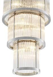 Casa Padrino Kronleuchter In Silber Mit Klarem Glas 38 X H 76 Cm Luxus Wohnzimmermöbel