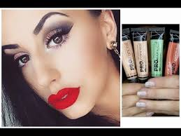 how to use l a hd pro concealers orange and green corrector