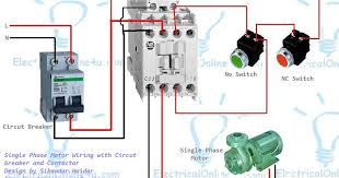 contactor wiring diagram single phase contactor single phase motor wiring contactor diagram on contactor wiring diagram single phase
