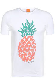 T Shirt With Pineapple Design Cotton T Shirt With Pineapple Design Tomsin 3